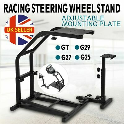 Racing Simulator Steering Wheel Stand Gaming For G29 G920 T300RS XBOX ONE PS4 UK • 40.98£