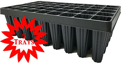 5 X Plant & Tree Cultivation Trays 45 Cell Root Trainers With Drainage • 29.99£
