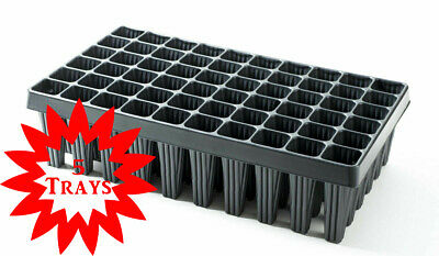 5 X Plant & Tree Cultivation Trays 60 Cell Root Trainers With Drainage • 29.99£