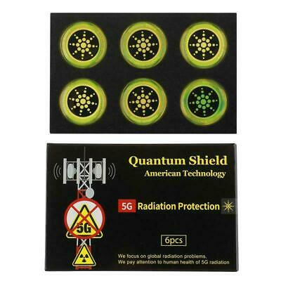 Quantum Anti Radiation Shield 5G EMF Protection - Phones Laptops - 6 Stickers UK • 3.99£
