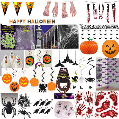 HALLOWEEN DECORATIONS Window Stickers Cling Spooky Hanging Party Decor Lot UK • 2.99£