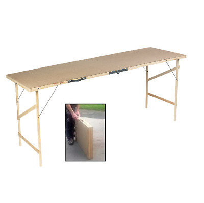 Foldable 6ft Hardboard Portable Wallpaper Paste Pasting Table Decorating • 16.95£