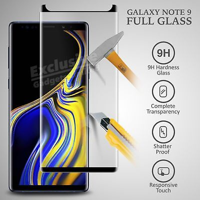 $ CDN3.44 • Buy For Samsung Galaxy Note 9 Full Curved 3D Tempered Glass Screen Protector -Black