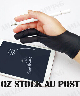 AU7.95 • Buy Professional Graphic Tablet Artist Sketch Drawing Two Finger Glove S/M/L Size