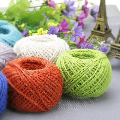 50M Jute String Hemp Rope Cord For DIY Craft Gift Wrapping Package Decoration*1 • 3.28£