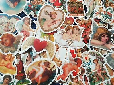 Baby Cherub Stickers 20/50 Christian God Angel Cupid Mother Mary Bible Scrapbook • 6.60£