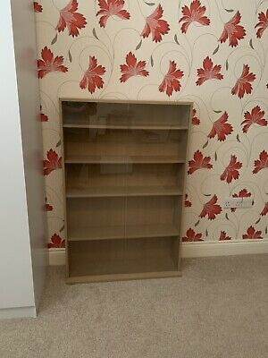 Bookcase Cabinet With Sliding Glass Doors • 18£