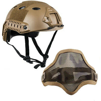 $31.49 • Buy Tactical Airsoft Paintball Military Protective SWAT Helmet +Sparta Mask Sand