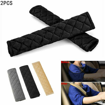 2Pcs Car Seat Belt Pads Harness Safety Shoulder Strap BackPack Cushion Covers UK • 6.89£