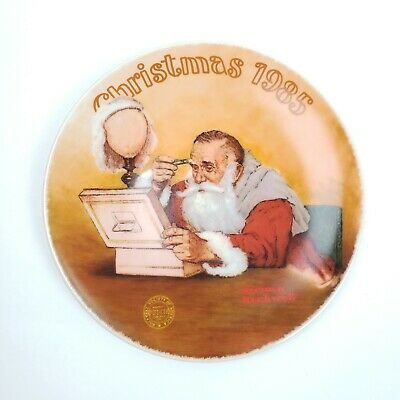 $ CDN17.32 • Buy Norman Rockwell  Grandpa Plays Santa  By Edwin Knowles Decorative Plate 1985