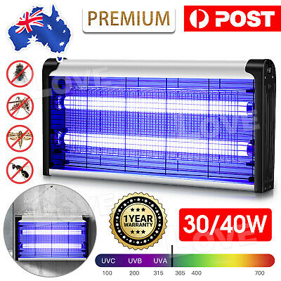 AU29.95 • Buy 40W Electric UV Mosquito Fly Insect Killer Bug Zapper Trap Lamp Aluminum Light