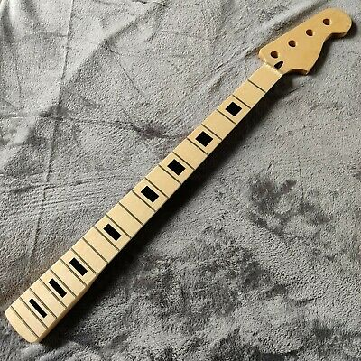New Maple Gloss P Precision Style Block Inlay Bass Neck Skunk Stripe 34  Scale • 135£