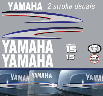 AU48 • Buy YAMAHA 15hp 2 Stroke And 4 Stroke Outboard Decals