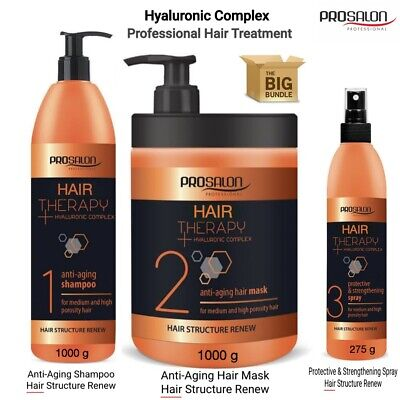 £13.99 • Buy Hair Shampoo-Mask-Conditioner-Strengthening+Hyaluronic Complex Protein Therapy