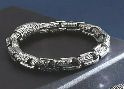 Mens Silver Viking Vintage Rope Solid 316l Stainless Steel Bracelet For Men 22.5 • 25.77£