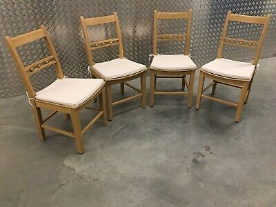 4x Neptune Suffolk Kitchen Dining Room Chairs In Natural Oak + Cushions RRP£1340 • 895£