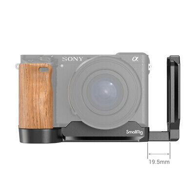 AU79.99 • Buy SmallRig L Bracket Plate For Sony A6400/A6300/A6100 Camera With Wooden Handgrip