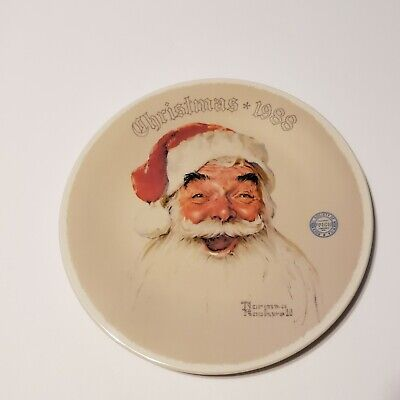 $ CDN14.65 • Buy Norman Rockwell  Santa Claus  By Edwin Knowles Decorative Plate 1988