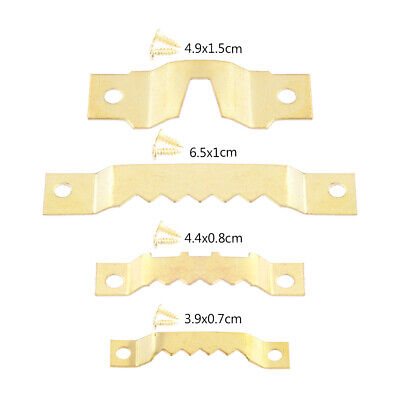 25x Frame Hanging Hanger Saw Tooth Wall Picture Hangers Hooks Lots With Screws • 2.67£