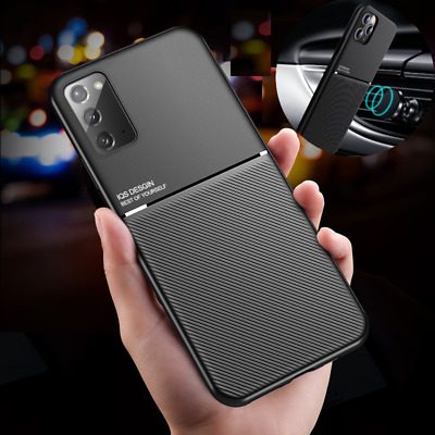 $ CDN7.68 • Buy For Samsung Galaxy A21S S20 Note 20 Shockproof Slim Leather Metal Magnetic Case