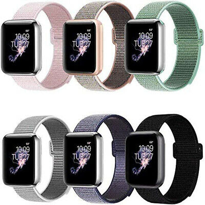$ CDN4.61 • Buy For Apple Watch 5 4 3 2 1 Sport Loop Strap IWatch 38/42/40/44mm Band Wristband