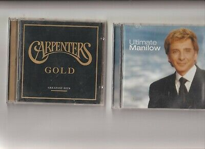 Barry Manilow : Ultimate  + The Carpenters : Gold Greatest Hits TWO CD Albums   • 3.49£