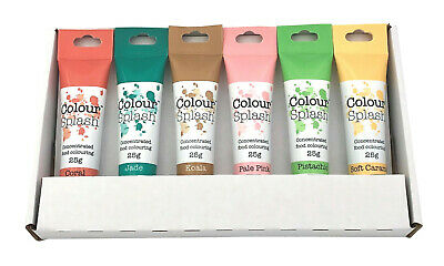 Colour Splash Pastel Rainbow Colours Food Colouring Gel Set - 6 Colours • 9.98£