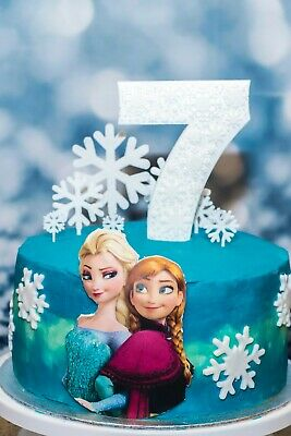 £3.50 • Buy Frozen Snowflake Cake Topper Any Age Number Cake Decoration Personal Topper