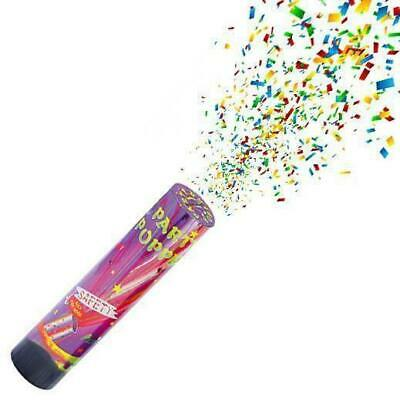Party Poppers Compressed Air Confetti Cannons Wedding Birthday Baby Shower  UK • 3.99£