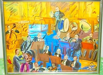 £106.47 • Buy RARE: RAOUL DUFY 1940's FRAMED GRAVURE ORCHESTRA SIGNED 8x10 MUSIC ART PRINT
