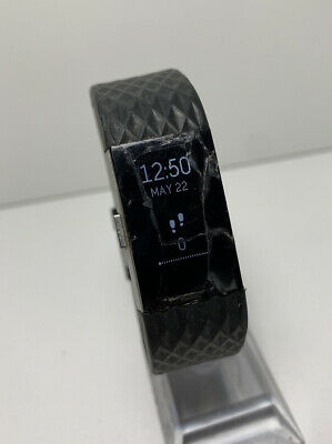 $ CDN45.54 • Buy Fitbit Charge 2 HR Heart Rate Monitor Fitness Activity Tracker Black Large READ
