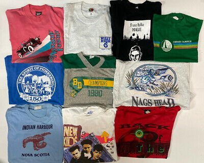 $ CDN131.81 • Buy Lot Of 10 Vintage 80s 90s Single Stitch T Shirts Adult Size Small Graphic Tees
