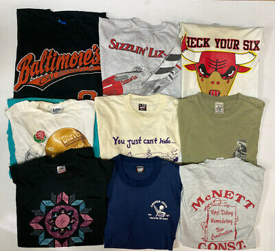 $ CDN98.85 • Buy Lot Of 10 Vintage 80s 90s Single Stitch T Shirts Adult Size XL Graphic Tees Used