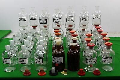 Job Lot Of Used Laboratory Glassware 60 X 500ml Flasks Some W/ Stoppers • 162.90£