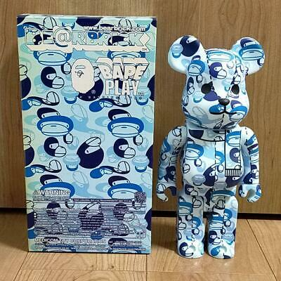 $510 • Buy Medicom Toy BE@RBRICK Bearbrick A BATHING APE Bape Blue 400% Japan Limited
