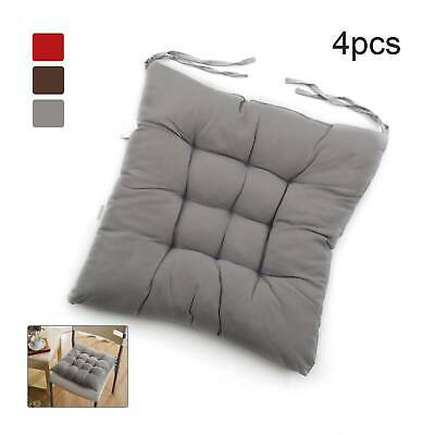 £13.99 • Buy 4Pcs Chair Seat Pads Garden Furniture Dining Patio Outdoor Tie On Cushions Thick
