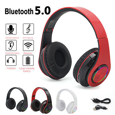 $ CDN14.84 • Buy Wireless Bluetooth Headphones With Noise Cancelling Over Ear Stereo Earphones UK