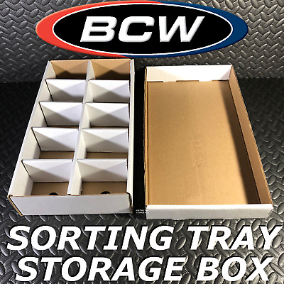 £8.63 • Buy 1X USED BCW TRADING CARD SORTING BOX W/LID 10-COMPARTMENTS SORT TRAY