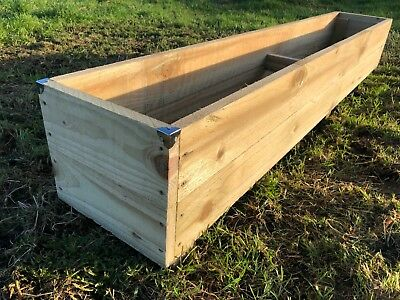 6ft Long Rustic EXTRA LARGE JUMBO Wooden Planter Timber Garden Flower Trough Tub • 62.50£