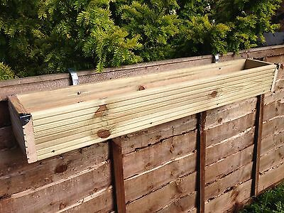 Over The Fence Panel - Hanging Balcony Wooden Planter Window Box Decking Trough • 32£