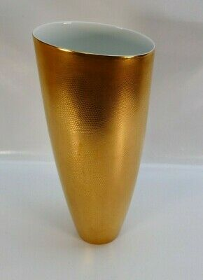 Exceptional Minton Pure Gold Large Lizard Skin Vase • 850£