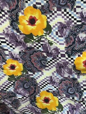 """3 Metres Crepe De Chine Printed Fabric 45""""wide For Dress Blouse All Textile Use • 6£"""