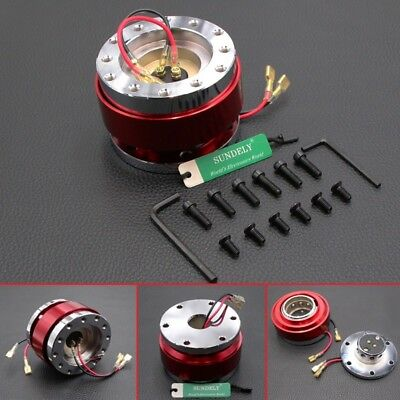 Car Steering Wheel Quick Release Hub Adapter Snap Off Boss Kit Red Universal • 22.73£