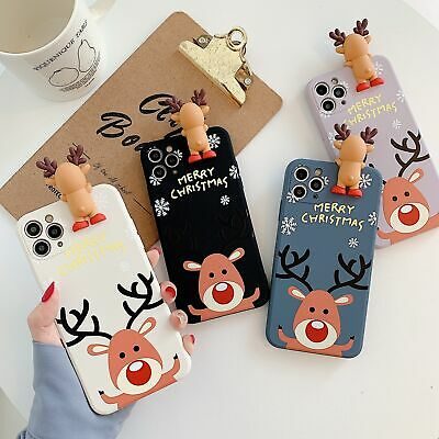 AU5.89 • Buy Christmas Gift Cute Elk Soft Case Cover For IPhone 12 11 Pro Max XS XR X 8 7Plus