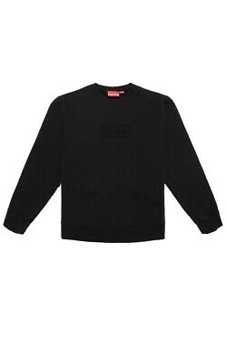 $ CDN266.67 • Buy Supreme Cutout Logo Crewneck Sweatshirt Box Logo Black Size Large