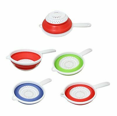 Silicone Collapsible Pop Up Strainer Colander Sieve Fruit Veg Washing Drainer UK • 5.99£