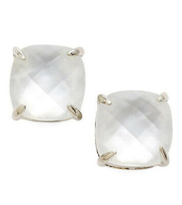 $ CDN39.62 • Buy Nwt Kate Spade Square Stud Earrings $38 Silver Cream Mother Of Pearl