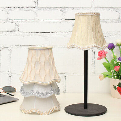 Small Lace Lampshade Cotton Textured Fabric Drum Shade Table Ceiling Light Cover • 3.79£