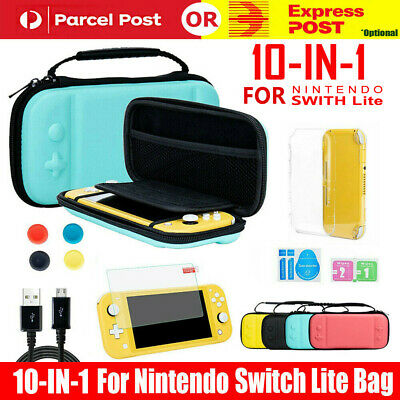 AU20.92 • Buy For Nintendo Switch Lite Carrying Case Bag+Shell Cover+Glass Screen Protector AU