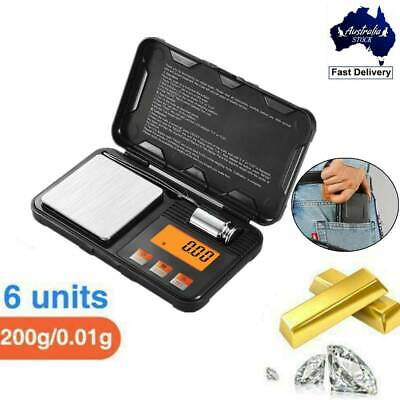 AU18.30 • Buy Electronic Pocket Mini Digital Gold Jewellery Weighing Scales 0.01g/200g